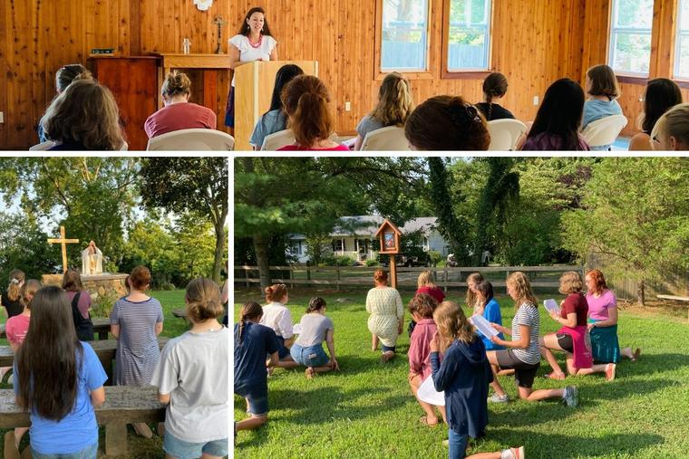 The Gratia Plena Camp encouraged young women to embrace authentic femininity through prayer and talks about the feminine genius and female saints.
