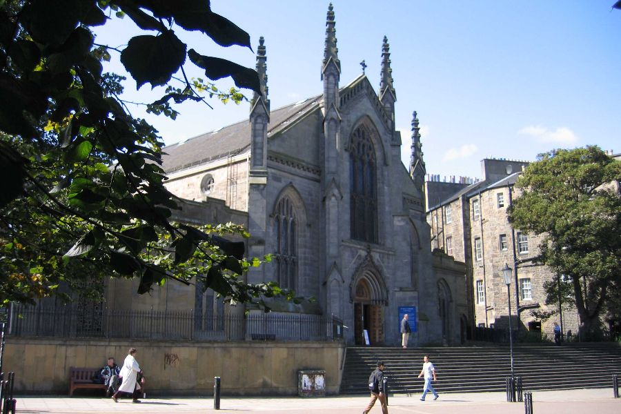 St. Mary's Catholic Cathedral in Edinburgh, Scotland, where the attack took place.