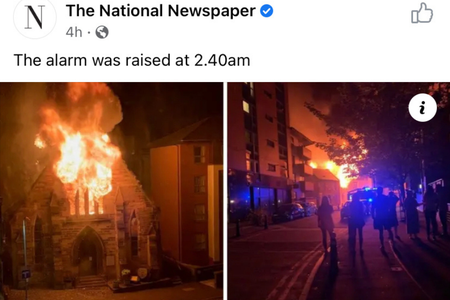 Fire Engulfs 163-Year-Old Catholic Church in Scotland
