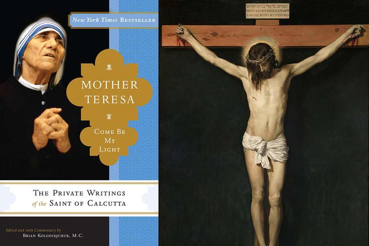 """Cover of 'Mother Teresa: Come Be My Light' (left); Diego Velázquez, """"Christ Crucified,"""" ca. 1632"""