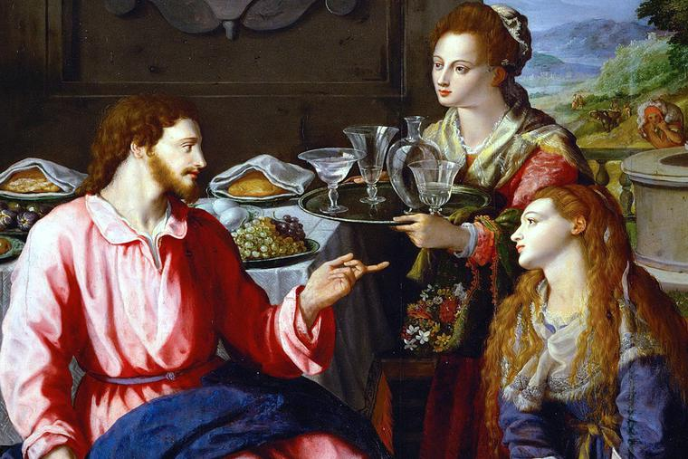 """Alessandro Allori, """"Christ at the House of Mary and Martha,"""" 1605"""