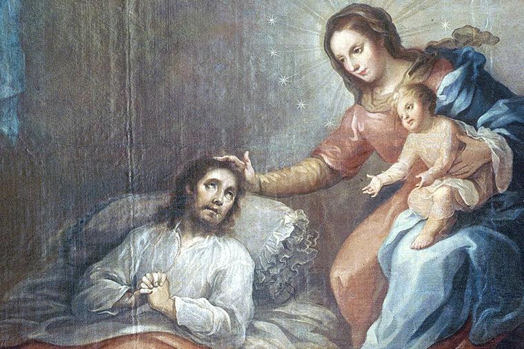 "Miguel Cabrera (1695-1768), ""The Conversion of St. Ignatius of Loyola"""
