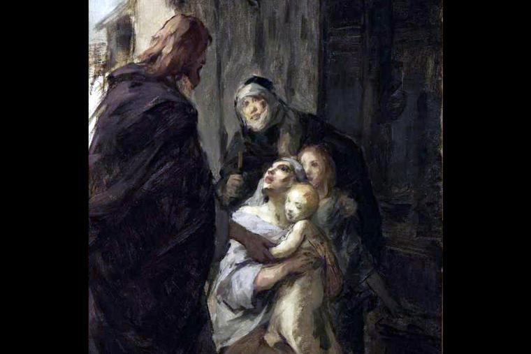 """Fritz von Uhde (1848-1911), """"Christ Healing a Sick Child"""""""