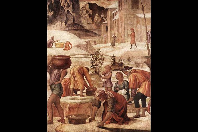 """Bernardino Luini (1480-1532), """"The Gathering of the Manna"""""""