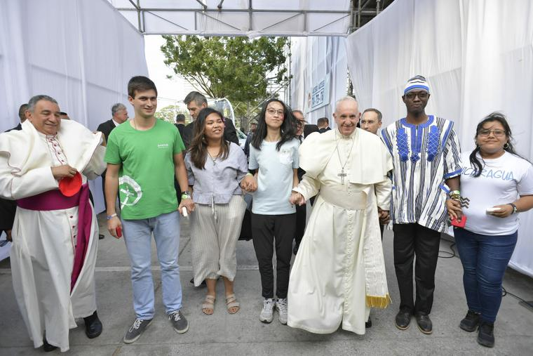 Pope Francis attended the opening ceremony of the 2019 World Youth Day in Campo Santa Maria La Antigua on Jan. 24, 2019.