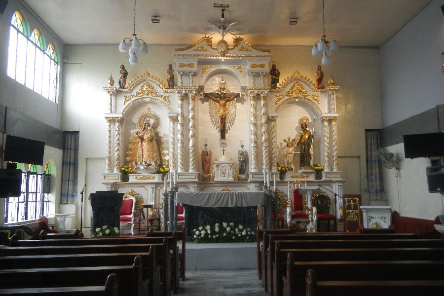 Mary, Comforter of the Afflicted Parish Church in Maricaban, Pasay City, in the Philippines.