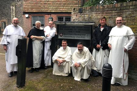 British Dominicans visit Blackfriars Monastery in Canterbury, England, from which they were evicted in 1538.