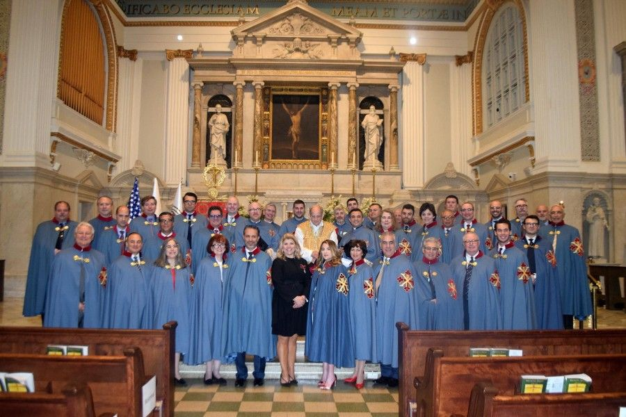 Members of the U.S. delegation of the Sacred Military Constantinian Order of St. George