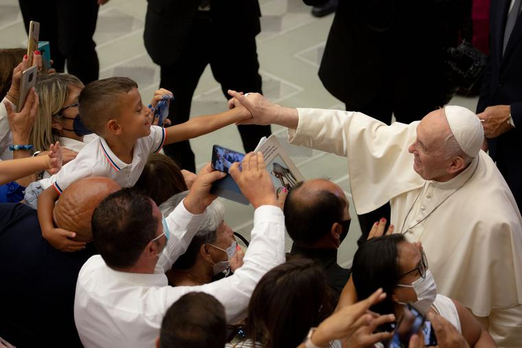 Pope Francis' general audience in the Paul VI Hall at the Vatican, Aug. 3, 2021.