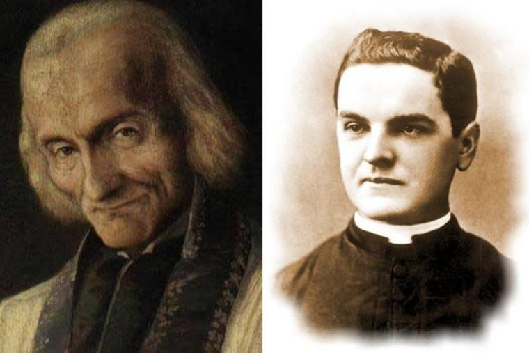L to R: St. John Vianney and Father Michael McGivney