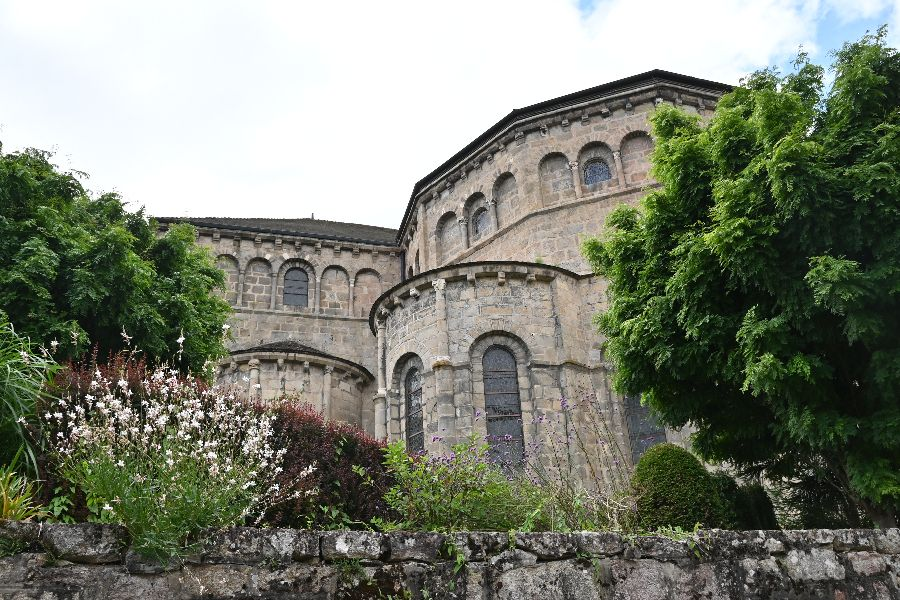 Solignac Abbey in west-central France.