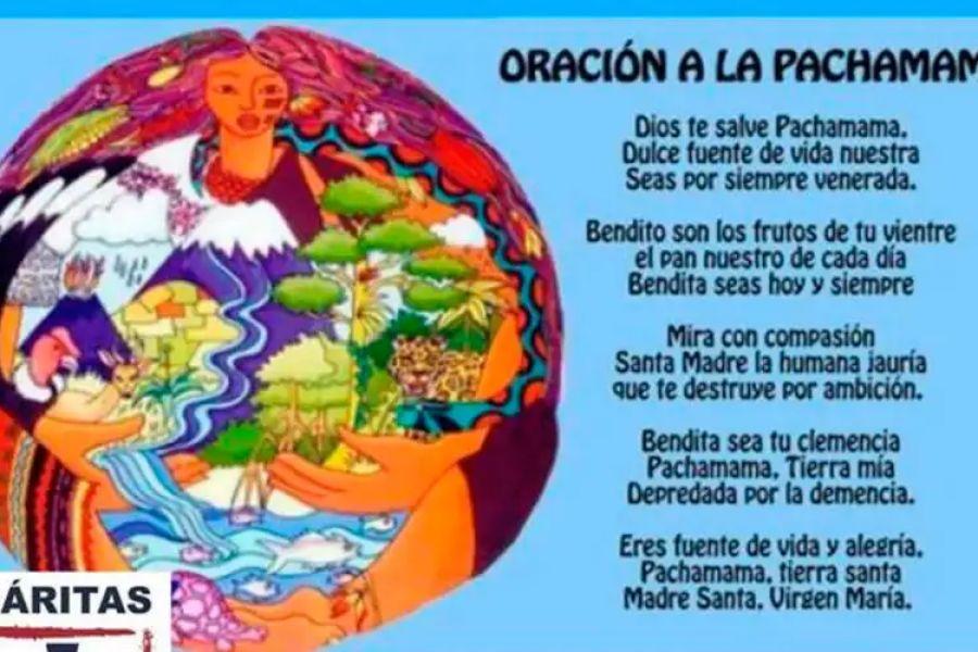 The Prayer to Pachamama posted by Caritas Venado Tuerto.