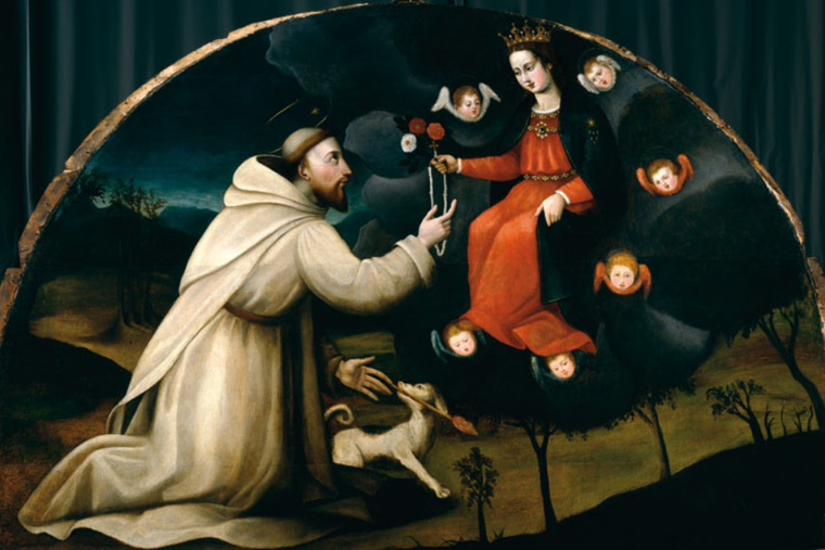 Saint Dominic Receives the Rosary.