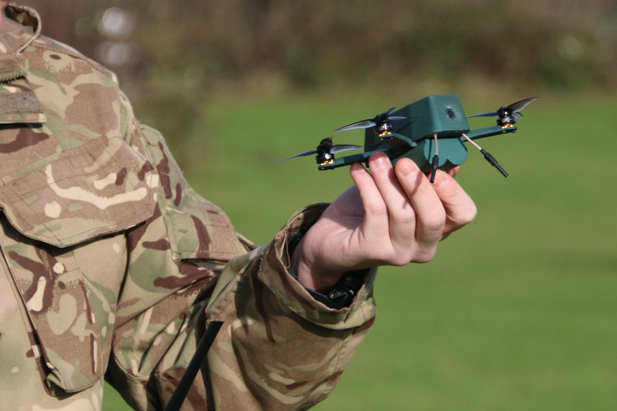 The Uavtek Nano Drone bug used by the British Army.