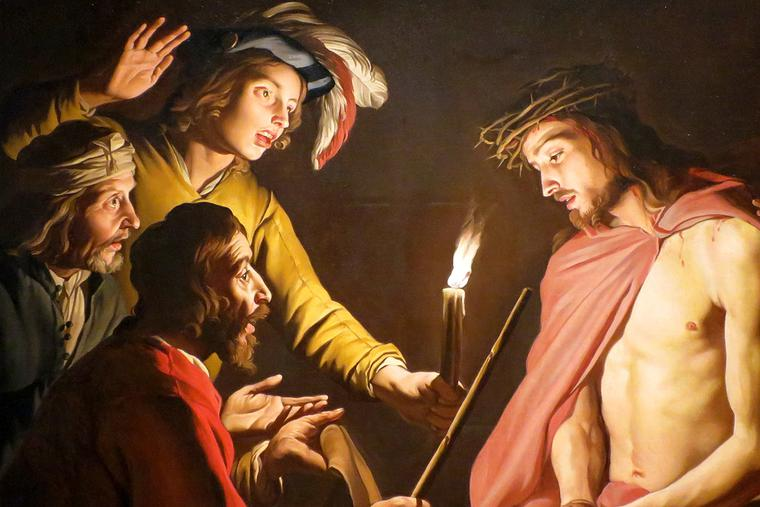 """Matthias Stom, """"Christ Crowned with Thorns,"""" ca. 1636"""