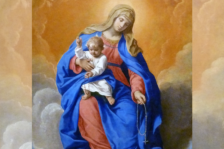 """Simone Cantarini (1612-1648), """"Our Lady of the Rosary"""""""