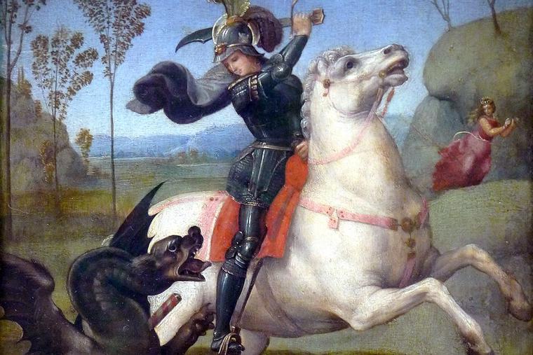 "Raphael, ""St. George Fighting the Dragon,"" ca. 1504"