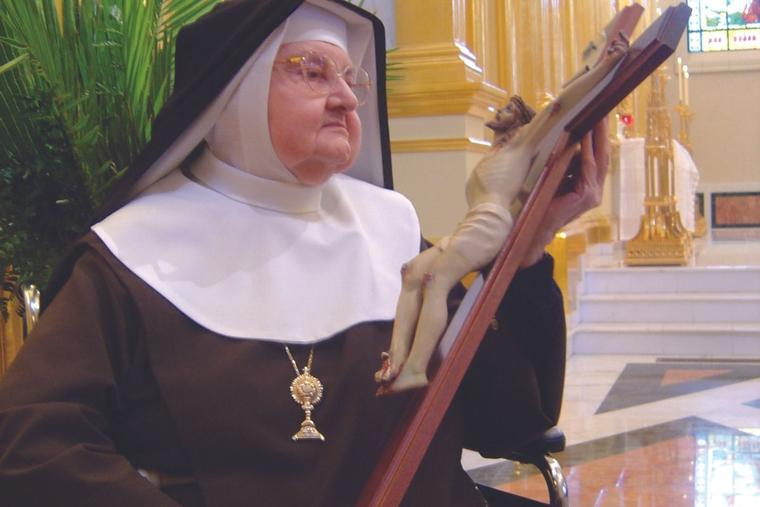 'If you are following God, he never shows you the end. It's always a walk of faith,' Mother Angelica said.