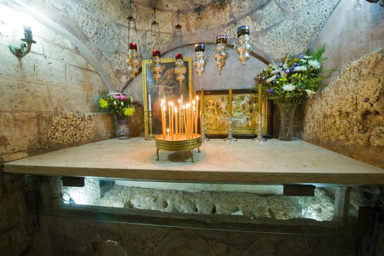 Mary's Tomb in Jerusalem is a popular pilgrimage site.