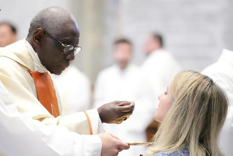 Cardinal Robert Sarah celebrated Mass in St. Peter's Basilica on the occasion of the 50th anniversary of his ordination to the priesthood, Sept. 28, 2019.