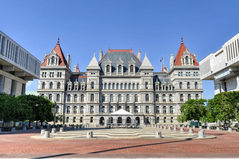 The New York State Capitol is located in Albany.