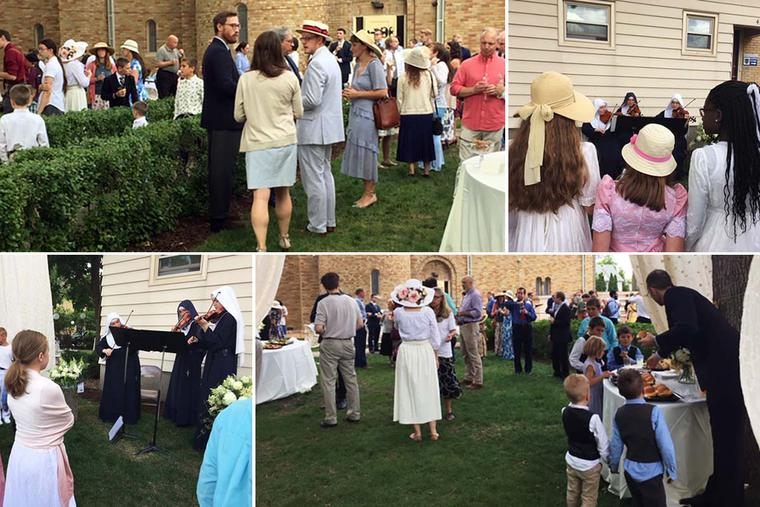 Parishioners gather for the Annual Garden Party at All Saints Parish in Minneapolis.