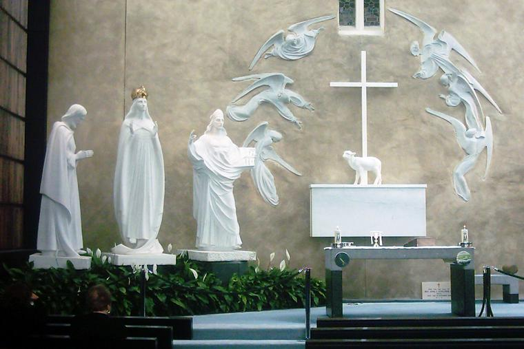 The Sanctuary of Our Lady of Knock in Ireland