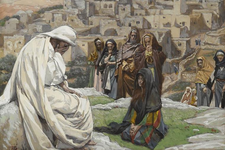 "James Tissot (1836-1902), ""Jesus Wept"""