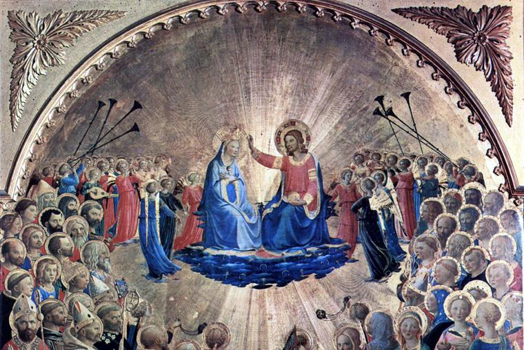 """Fra Angelico, """"Coronation of Our Lady,"""" c. 1435"""