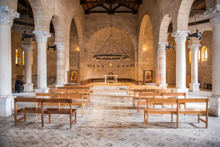 Church of the Multiplication of Loaves and Fishes on the shore of the Sea of Galilee.