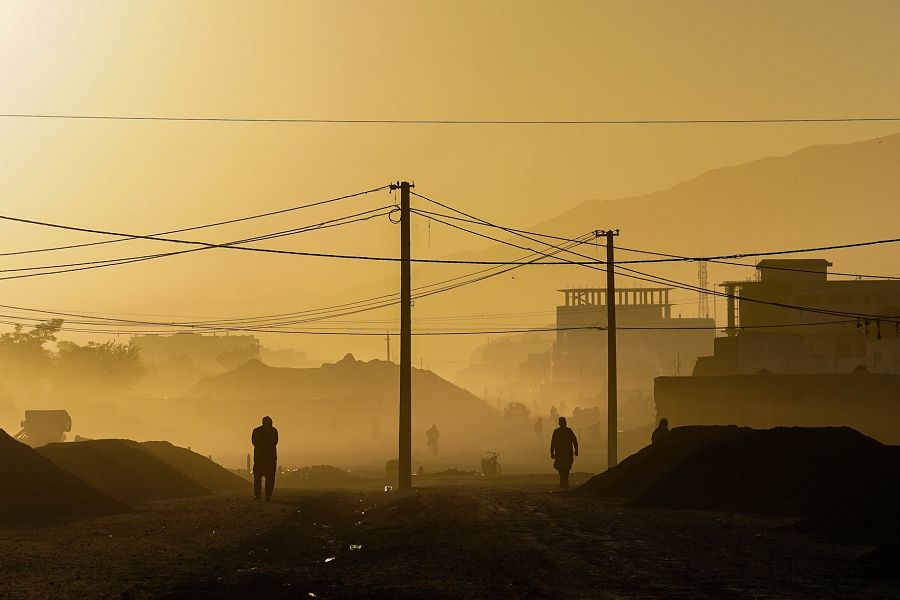 Early morning in Kabul, Afghanistan.