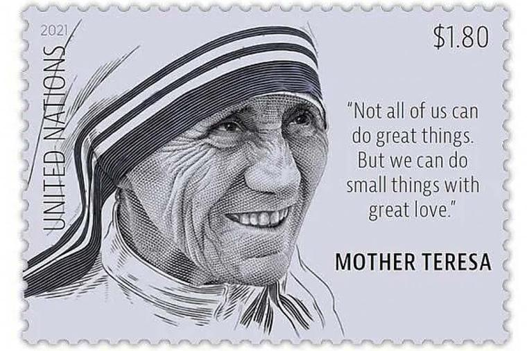 UN postage stamp honors Mother Teresa of Calcutta