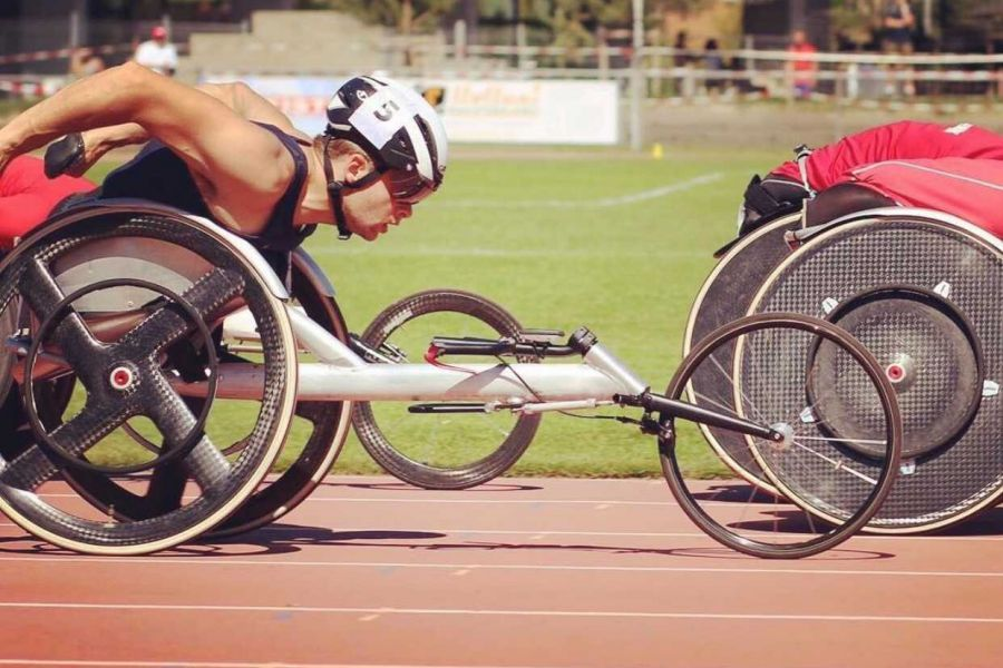 Brian Siemann competes in the 2016 paralympic trials in Charlotte, North Carolina.