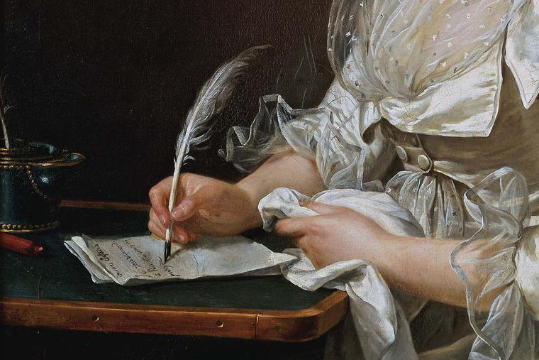 """Adélaïde Labille-Guiard, """"Portrait of a Woman"""" (detail), ca. 1787"""