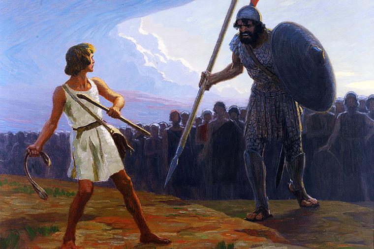 "Gebhard Fugel (1863-1939), ""David and Goliath"""