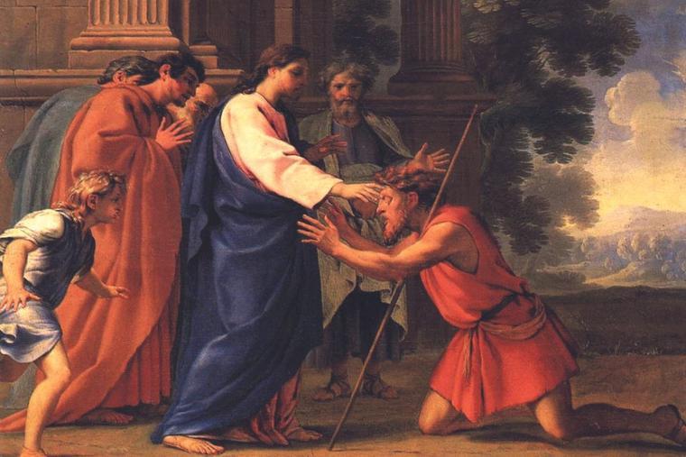 'CHRIST HEALING THE BLIND MAN,' EUSTACHE LE SUEUR, C. 1645