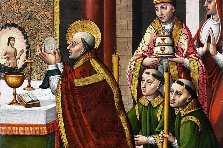 """Master of Portillo, """"The Mass of Saint Gregory the Great"""""""