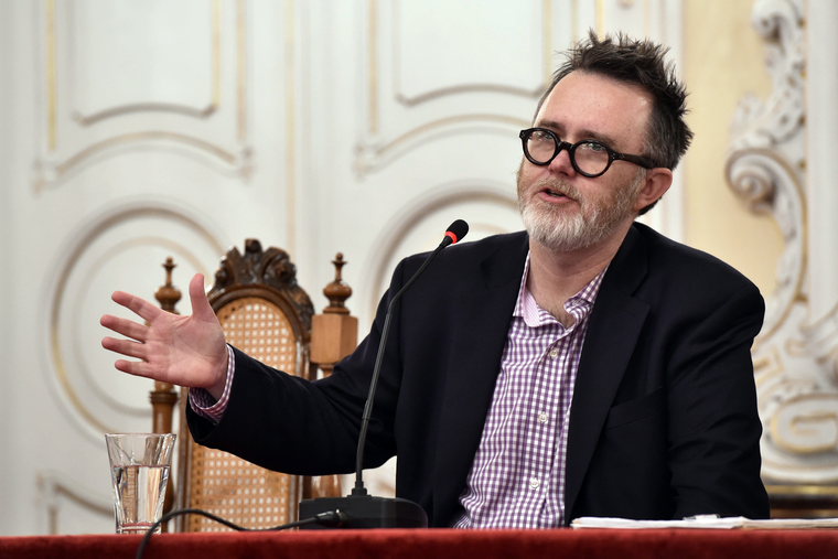 """American writer and editor Rod Dreher introduced a Czech edition of his book """"The Benedict Option: A Strategy for Christians in a post-Christian Nation"""" in the Archbishop's Palace in Olomouc, Czech Republic, on March 12, 2018."""