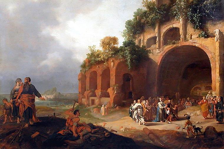 "Bartholomeus Breenbergh, ""Jesus Healing a Deaf-Mute,"" 1635"