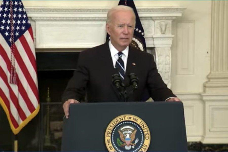 President Joe Biden delivers remarks at the White House, Sept. 9.