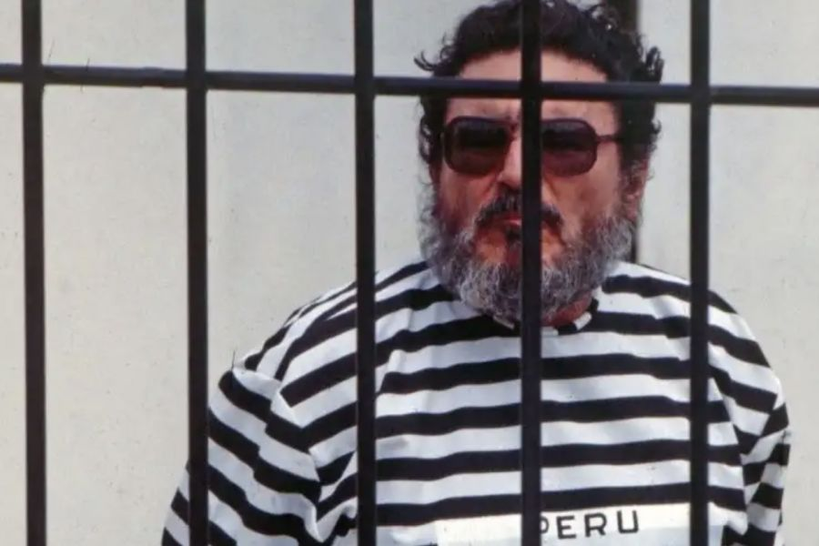 Abimael Guzmán after his capture in 1992.