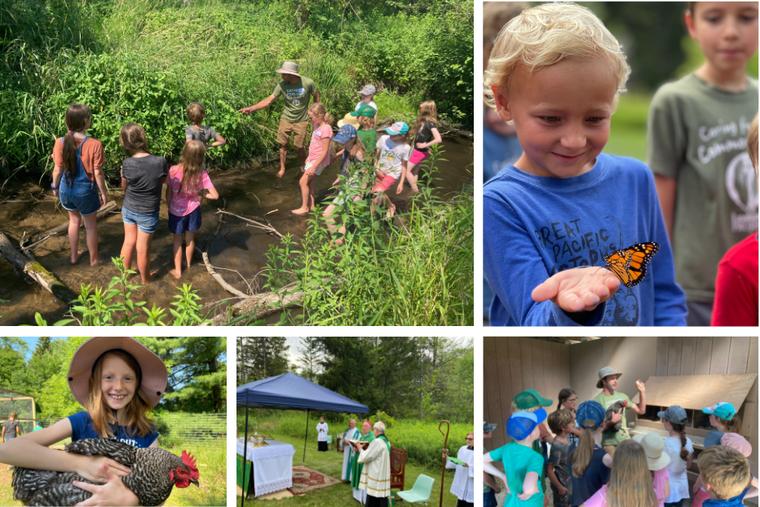 Courtesy images of children at the Catholic Ecology Center