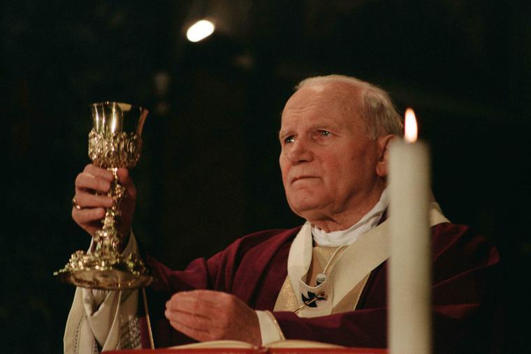 Pope John Paul II celebrating Mass in 1994.