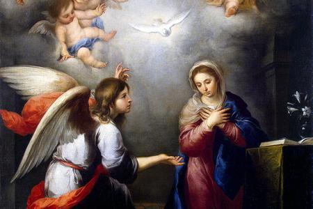"""Bartolomé Esteban Murillo, """"The Annunciation,"""" ca. 1655"""