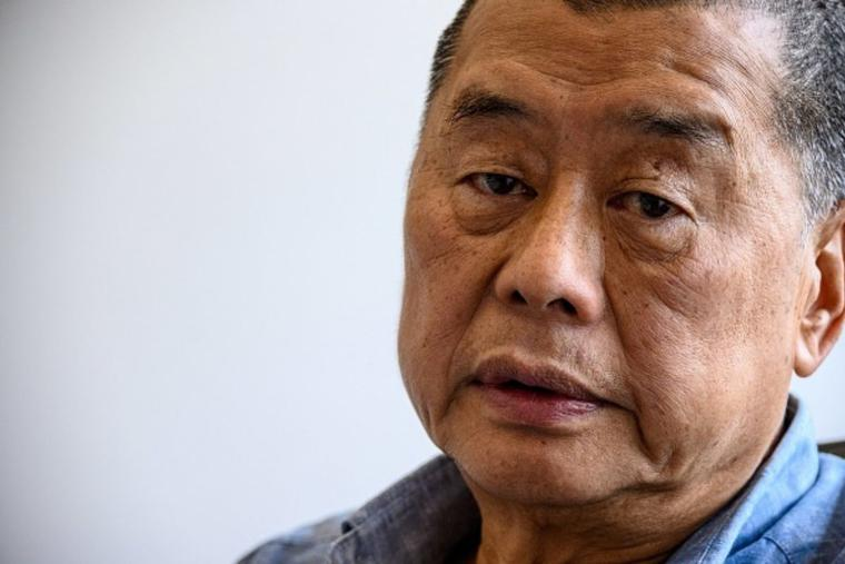 In this photo taken on June 16, 2020, Hong Kong pro-democracy media mogul Jimmy Lai, 72, poses during an interview with AFP at the Next Digital offices in Hong Kong. Lai was arrested under a new national security law on Aug. 10, 2020, and police raided his newspaper offices in a deepening crackdown on dissent in the  Chinese city. He was sentenced to 14 months in prison this past April.