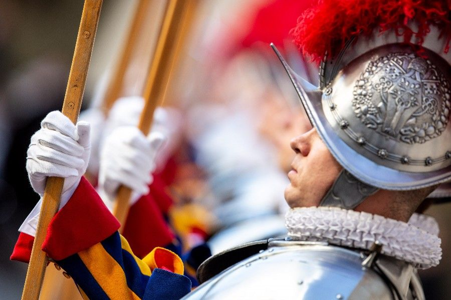 The Swiss Guard swearing in ceremony at the Vatican on May 6, 2019.