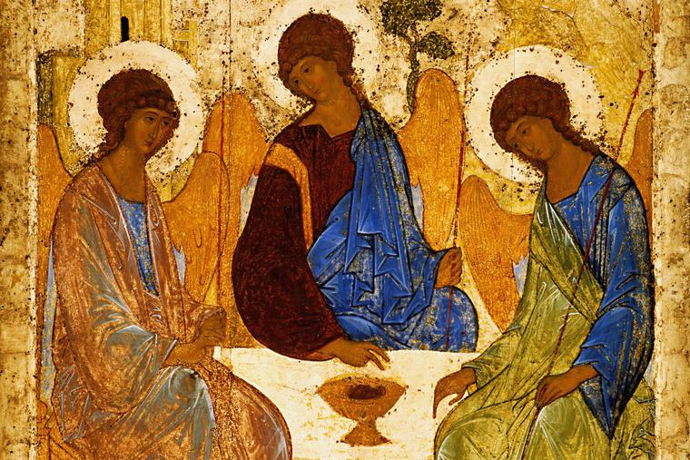 """Andrei Rublev, """"The Holy Trinity,"""" before 1430"""