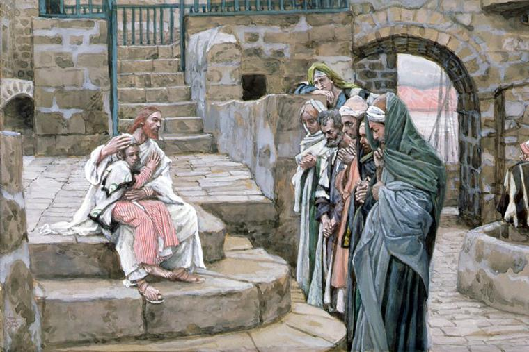 """James Tissot (1836-1902), """"Jesus and the Little Child"""""""