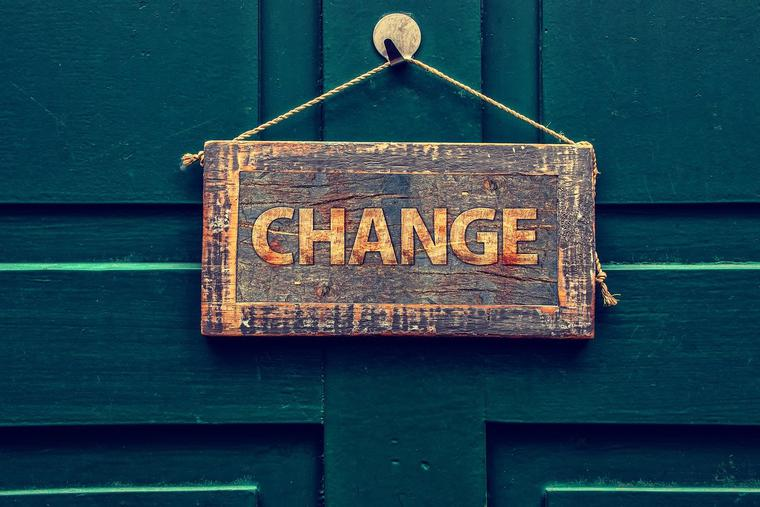 Change Sign Photo