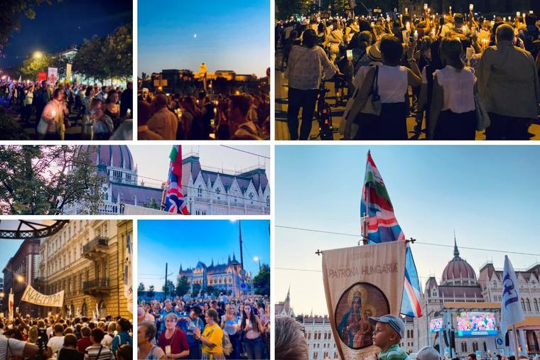 The candlelight Eucharistic procession took place Sept. 11, drawing the faithful to the streets of Budapest, Hungary.